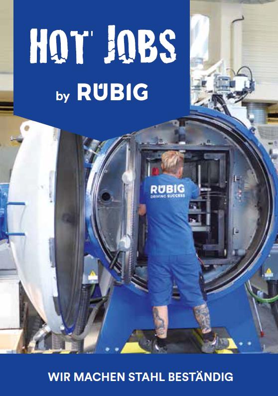 RÜBIG Lehrlingsfolder Hot Jobs Lehrstellen Wärmebehandlung Werkzeugbautechniker